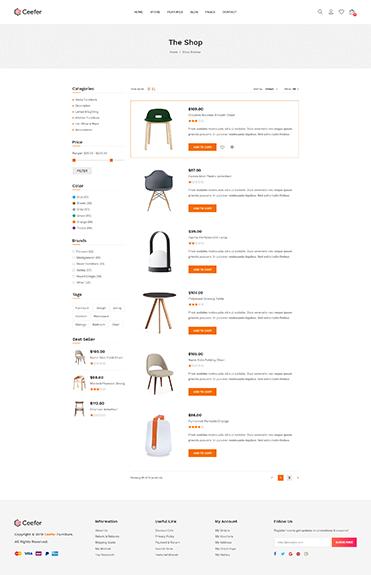 Shop List Sidebar